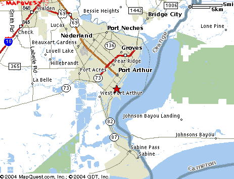 Locate And Contact Us On Pleasure Island In Port Arthur TX - Us intracoastal waterway map